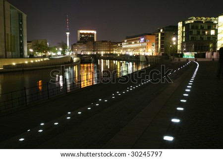 Night view of Berlin (Germany)