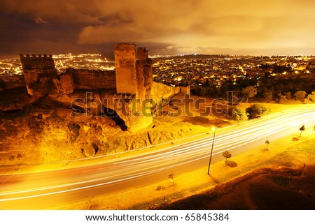 Night view of Fez El Bali, Morocco, Africa - stock photo