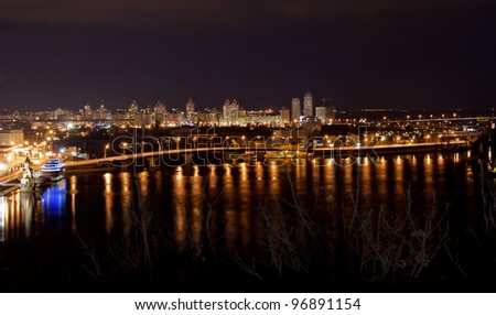 Night view of Kyiv from a lookout