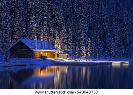 stock-photo-night-view-of-lake-louise-ca