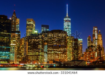 night view of Manhattan, New York City