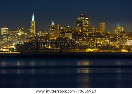Night view of San Francisco skyline