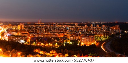 Night view of Ufa, Russia.