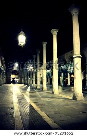 Night view of Venice the Pescheria - stock photo
