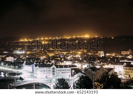 Night view of White Haven, United kingdom