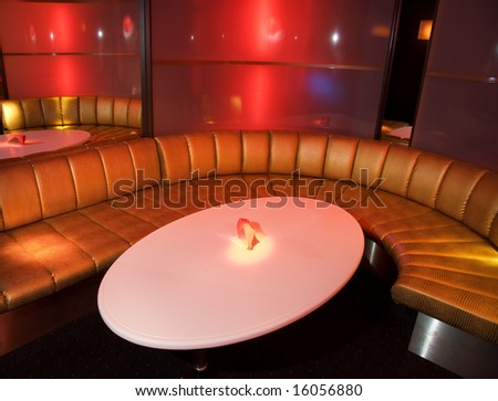 Nightclub interior - stock photo