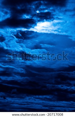 Nightly abstract picture cloudy sky - stock photo