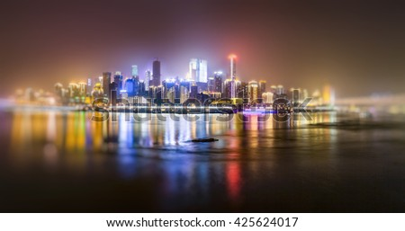 nightview of chongqing cityscape