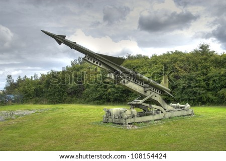 Nike ajax surface to air missile - stock photo