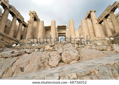 Nike`s Temple, Athens, Greece - stock photo