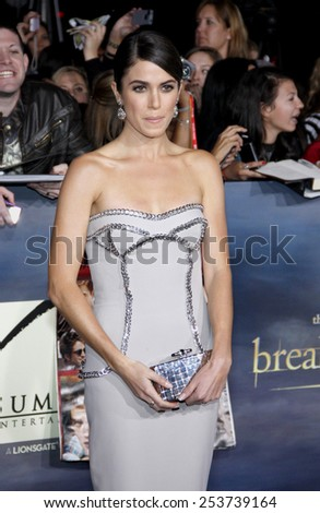 "Nikki Reed at the Los Angeles Premiere of ""The Twilight Saga: Breaking Dawn - Part 2"" held at the Nokia L.A. Live Theatre in Los Angeles, California, United States on November 12, 2012. - stock photo"