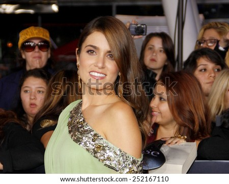 "Nikki Reed at the World Premiere of ""The Twilight Saga: Breaking Dawn Part 1"" held at Nokia Theatre L.A. Live in Los Angeles, California, United States on November 14, 2011.  - stock photo"