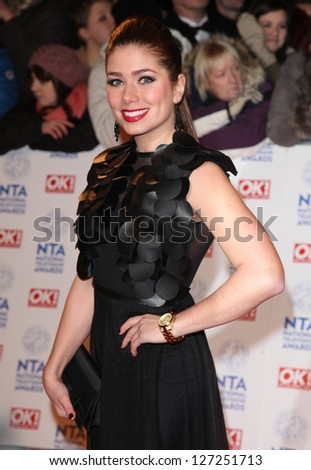 Nikki Sanderson arriving for the National Television Awards 2013, at the O2 Arena, London. 23/01/2013 Picture by: Alexandra Glen