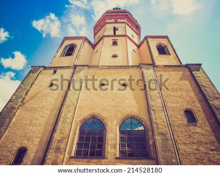 Nikolaikirch St Nicholas Church in Leipzig Germany where Johann Sebastian Bach performed the world premiere of St John Passion - stock photo