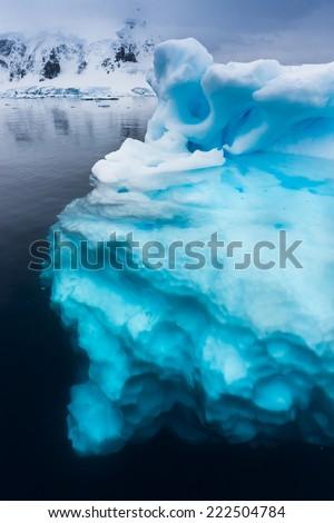 Ninety percent of icebergs are underwater - stock photo