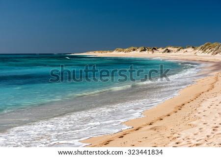 Ningaloo west australia paradise beach turqoise crystal water - stock photo