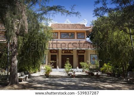 NINH THUAN,VIETNAM -AUGUST 19, 2016:Dieu An Pagoda in Thap Cham, Phan Rang,, Ninh Thuan, Vietnam
