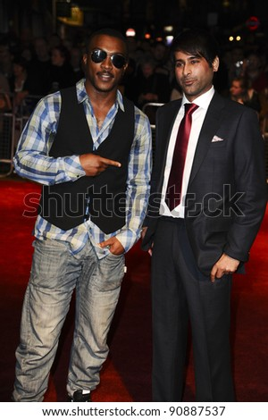 "Nirpal Bhogal and actor, Ashley Walters arrives for the premiere of ""Sket"", as part of the London Film Festival 2011, at the Vue West End, London. 22/10/2011 Picture by: Steve Vas / Featureflash"