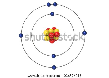 Nitrogen atom bohr model proton neutron stock illustration nitrogen atom bohr model with proton neutron and electron 3d illustration ccuart Image collections