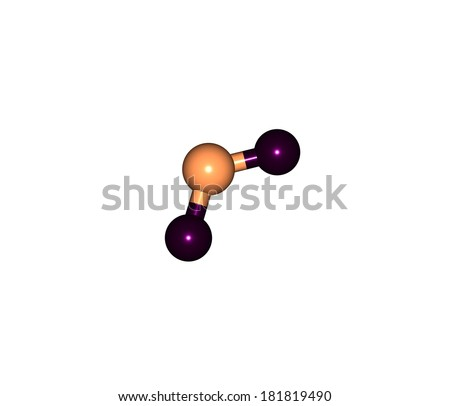 Nitrogen dioxide is the chemical compound with the formula NO2. It is one of several nitrogen oxides. NO2 is an intermediate in the industrial synthesis of nitric acid. - stock photo