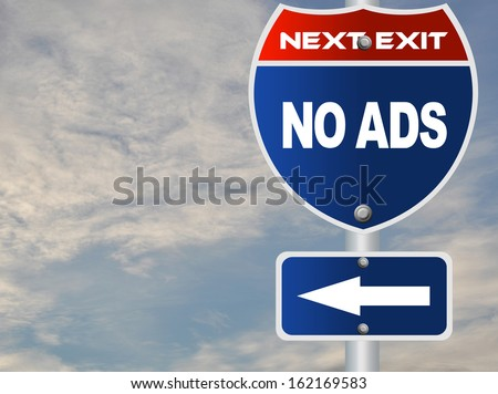No ads road sign