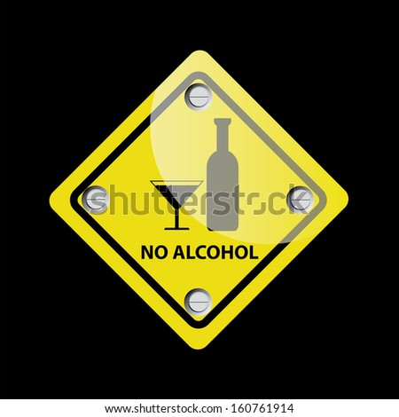 No alcohol vector sign - jpg format.  - stock photo