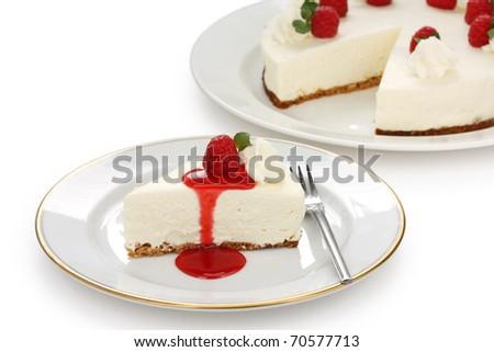 no bake cheesecake - stock photo