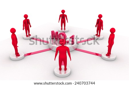 NO:1 business network - stock photo