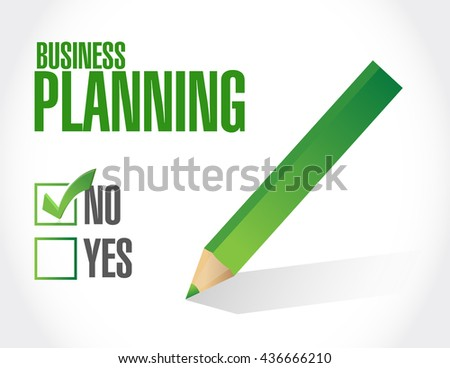 no business planning approval sign concept illustration graphic design - stock photo