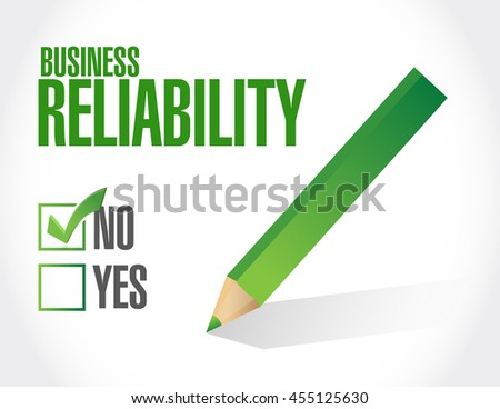 no Business reliability approval sign concept illustration design graphic - stock photo