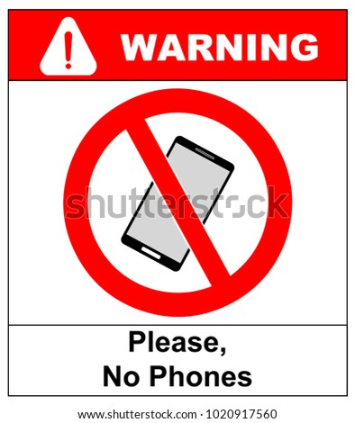 No cell phone sign. Mobile phone ringer volume mute sign. No smartphone allowed icon. No Calling label on white background. No Phone emblem great for any use. Stock  Illustration