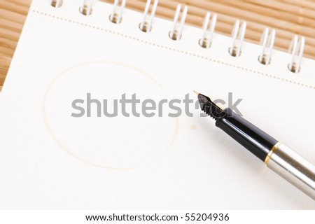 no concept. blank page, pen - stock photo