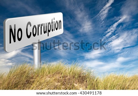 no corruption fraud and bribery political or police can be corrupt 3D illustration - stock photo