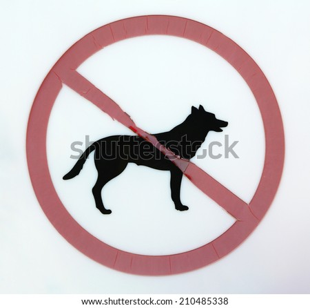 No dogs allowed sign - stock photo