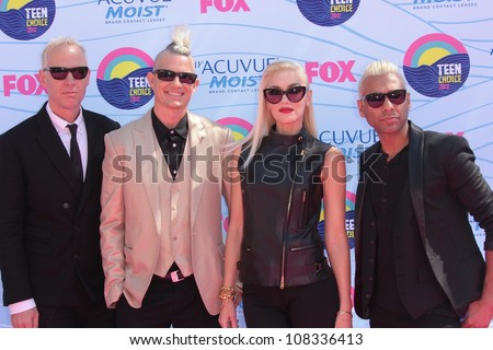 No Doubt at the 2012 Teen Choice Awards Arrivals, Gibson Amphitheatre, Universal City, CA 07-22-12