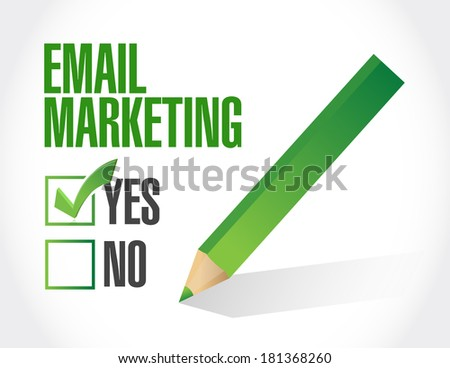 no email marketing illustration design over a white background - stock photo