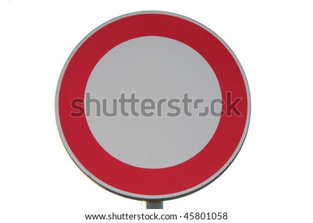 No entry road sign - isolated