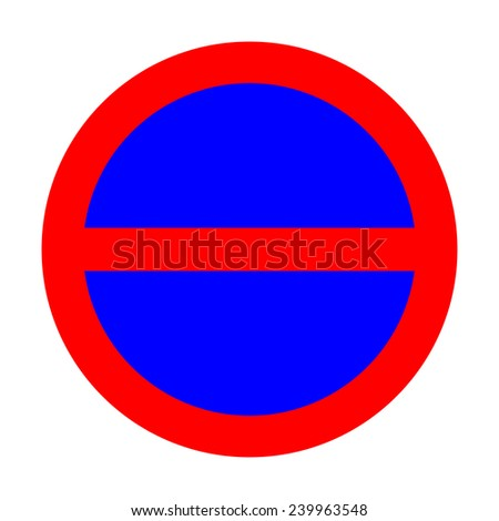 No entry sign on white background - stock photo