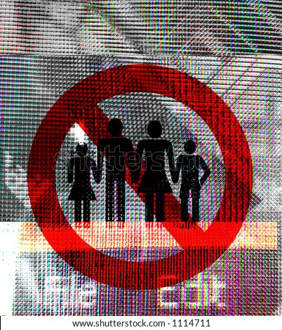 no families sign on digital background - stock photo