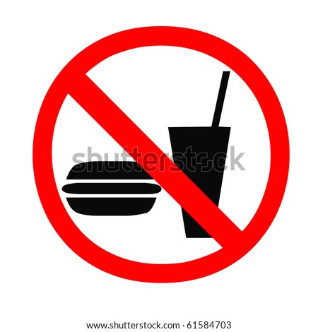 No food and drink allowed sign