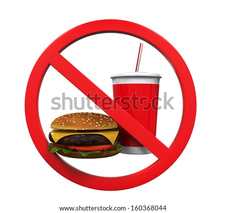 No Food and Drink Sign  - stock photo