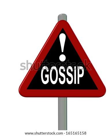 no gossip sign - stock photo