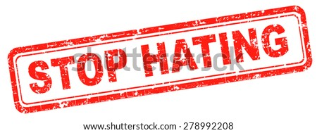 no hate stop hating start loving tolerance and forgiveness  - stock photo