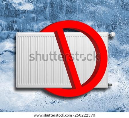 No heating sign - stock photo
