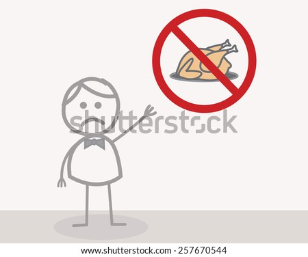 No Meat - stock photo