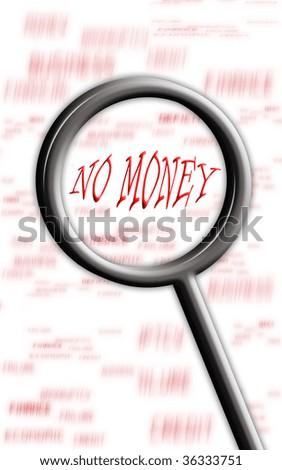 No money - stock photo
