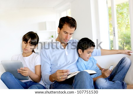 No more communication in family - stock photo