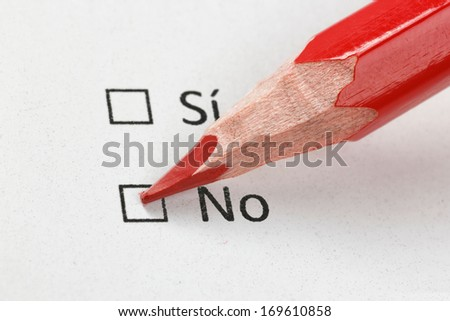 No option with red pencil - stock photo