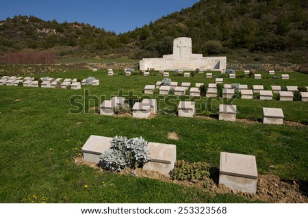 No2 Outpost New Zealand WWI Military Cemetery in Gallipoli, Turkey - stock photo
