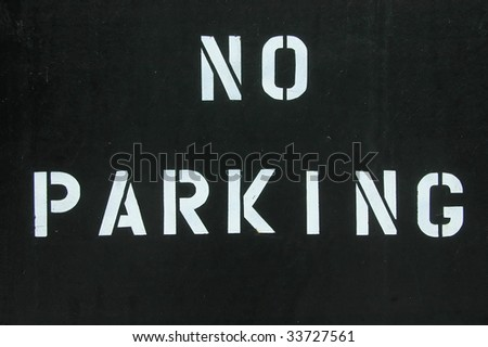 No Parking - Block Letters - stock photo